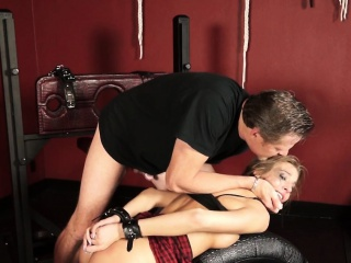 Obscene slut is abused and drilled